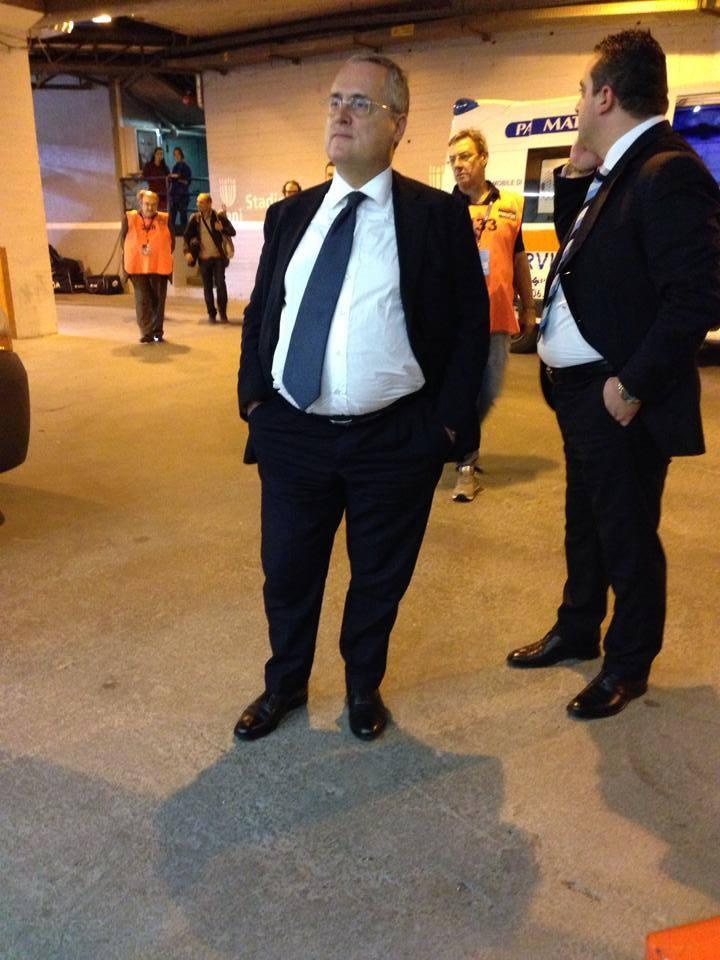 """Lotito pensa alla partita :""""Che la gara col Napoli sia all'insegna dei valori dello sport """""""