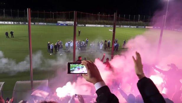 Termini si tinge di biancoceleste, il video della carica alla Lazio
