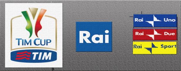 Coppa Italia, ottavi di finale del 13 Dicembre: la programmazione della Rai