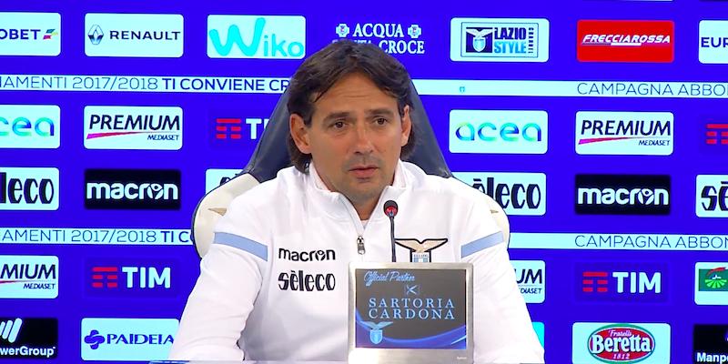 conferenza stampa simone Inzaghi Lazio Sassuolo