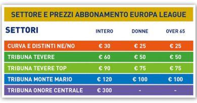 La S.S.Lazio pubblica le info per l'abbonamento all'Europa League